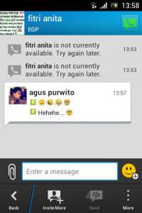 BBM Chat panel