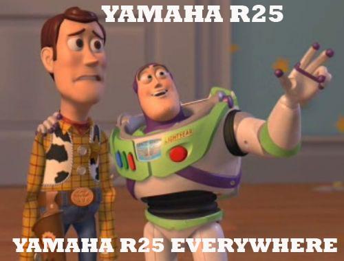 Yamaha R25 Everywhere