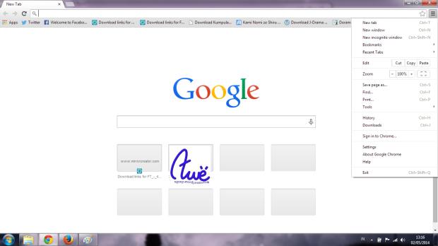 Google Chrome UI
