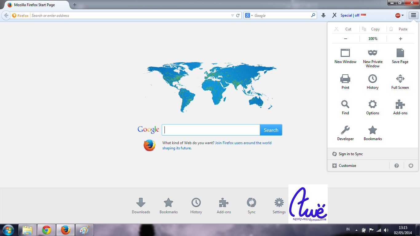 Mozilla Firefox 29 UI