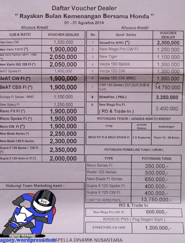 Brosur Honda Pekanbaru Agustus 3