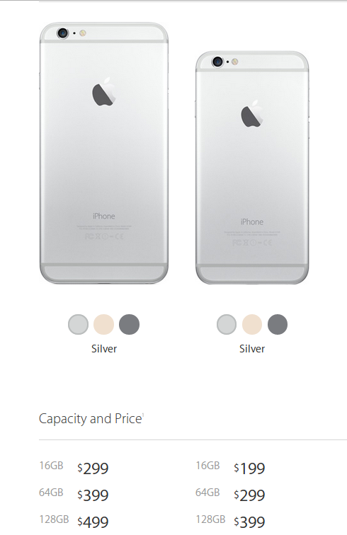 apple iphone 6 and 6 plus price