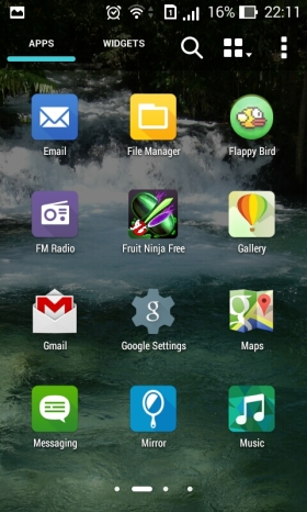 App drawer asus zenfone 4