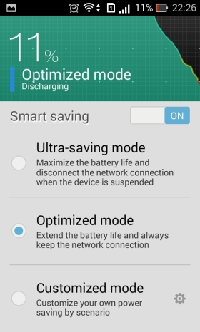 battery smart saving mode
