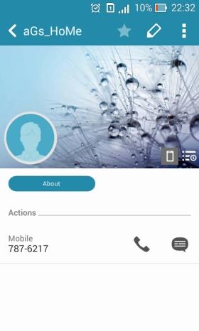 contact detail asus zenfone 4