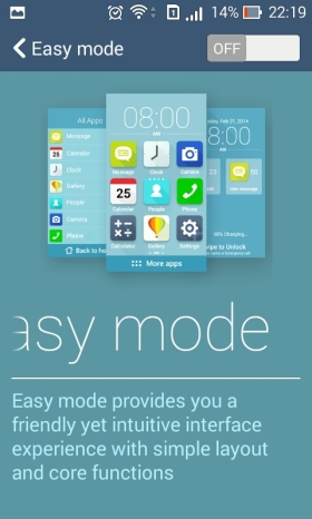 easy mode asus zenfone 4