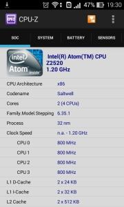 Hardware info asus zenfone 4 via CPUZ (1)