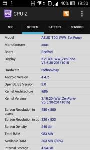 Hardware info asus zenfone 4 via CPUZ (3)
