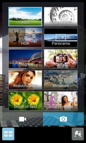 menu camera asus zenfone 4