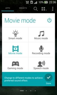 Sound mode asus zenfone 4