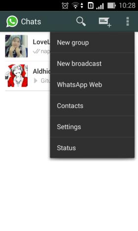 Whatsapp Menu
