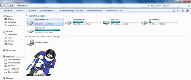 New partition harddisk success copy