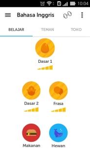 Duolingo Learning Menu