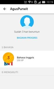 Duolingo My Level XP