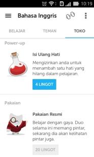 Duolingo Store Items