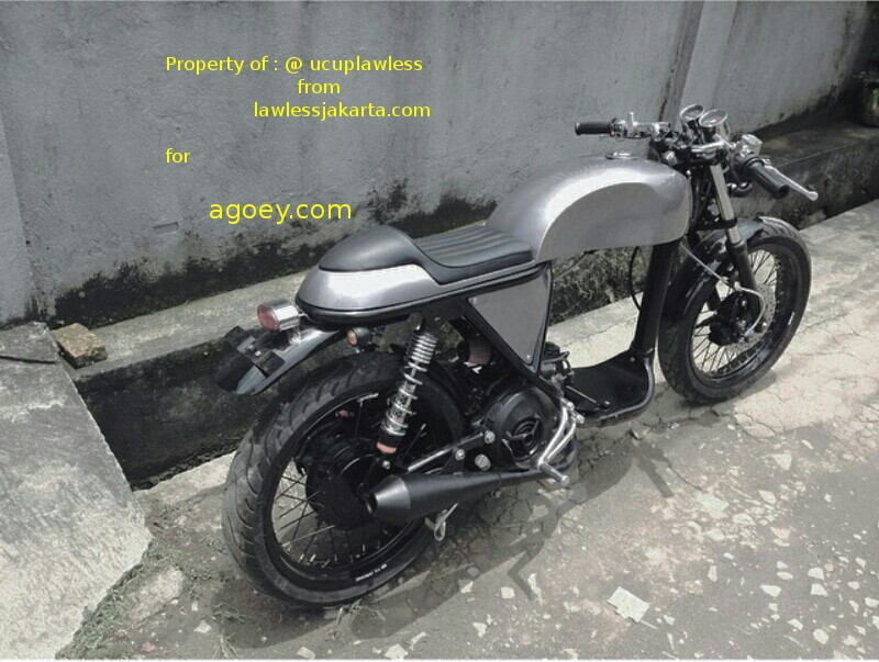 modifikasi mio cafe racer terkeren