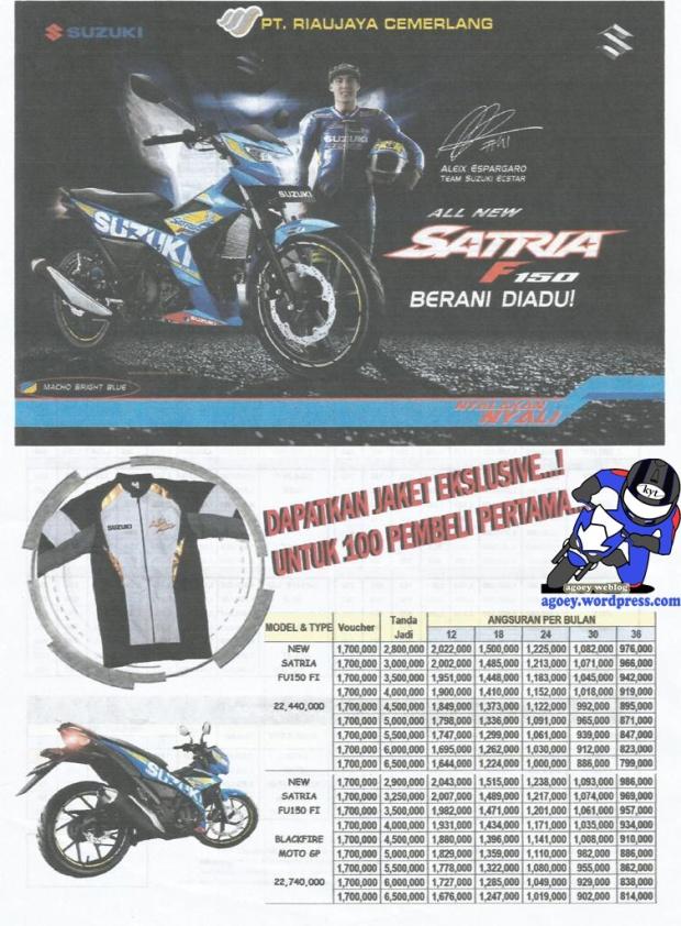 Brosur Suzuki Satria FU150 Injeksi 2016