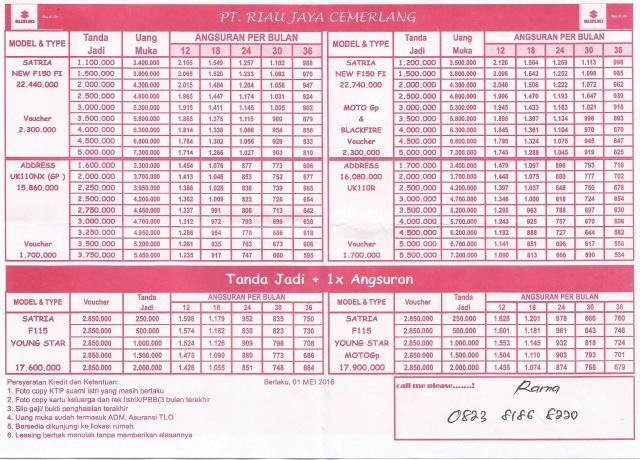 Brosur Harga Pricelist Suzuki0001